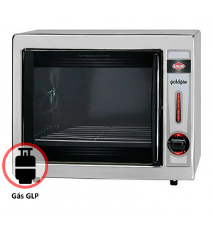 Forno A Gás Glp 46 Litros Ref.Gold Inox Advanced Layr